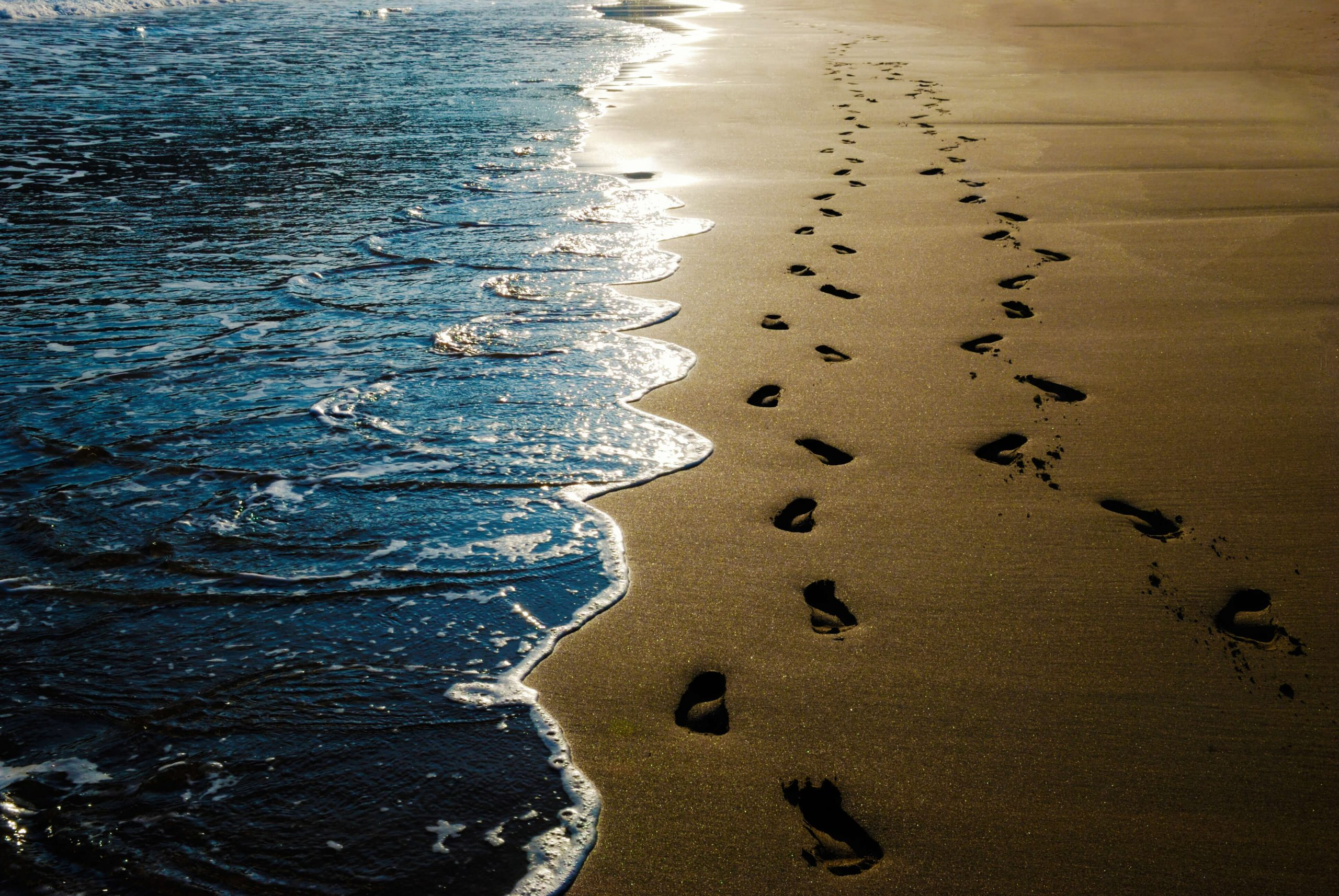 Footprints in the sand - not alone