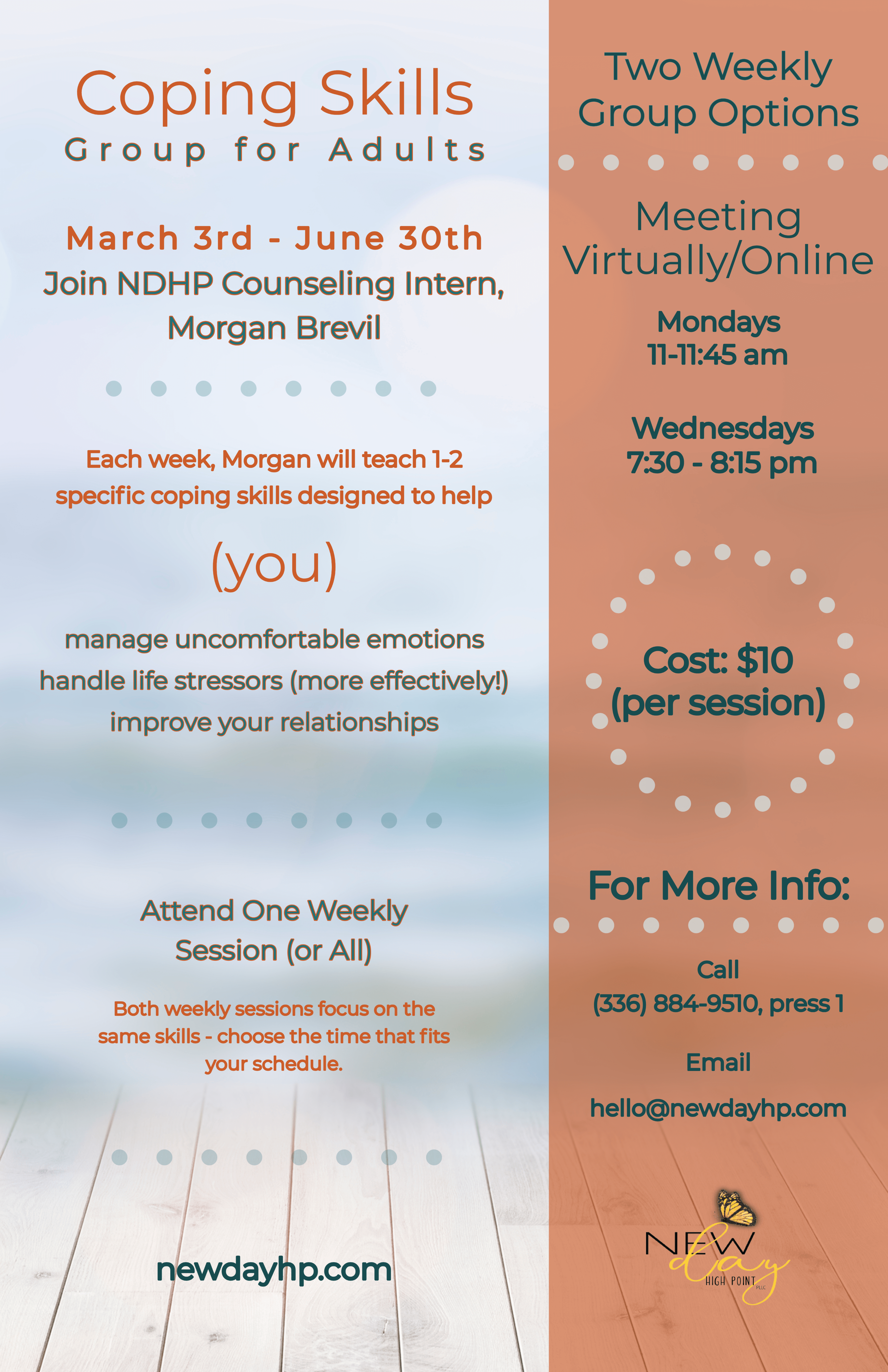 Coping Skills Group - Still Going & Extended through June 30th!