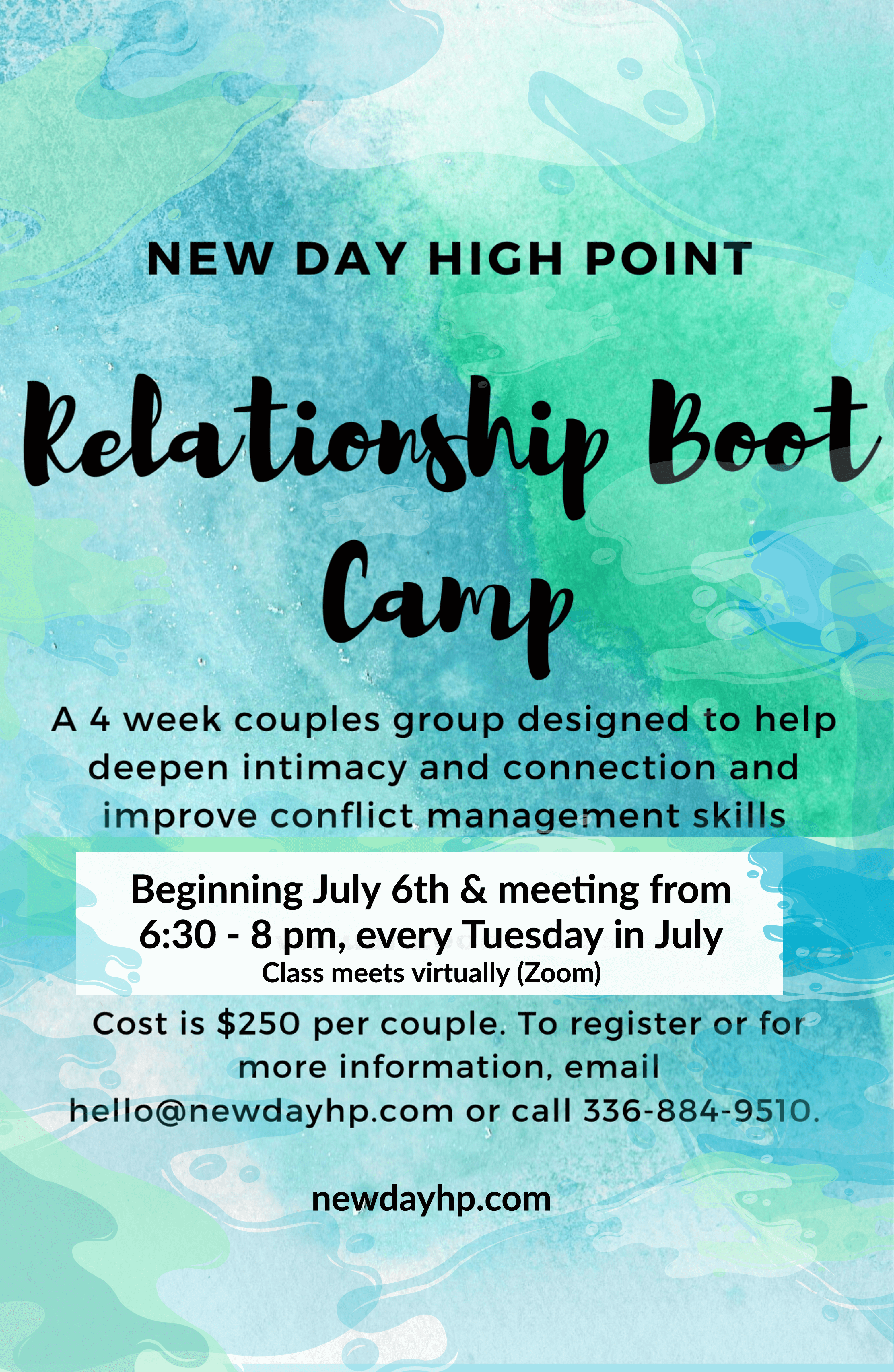 Relationship Boot Camp - Beginning July 6th!